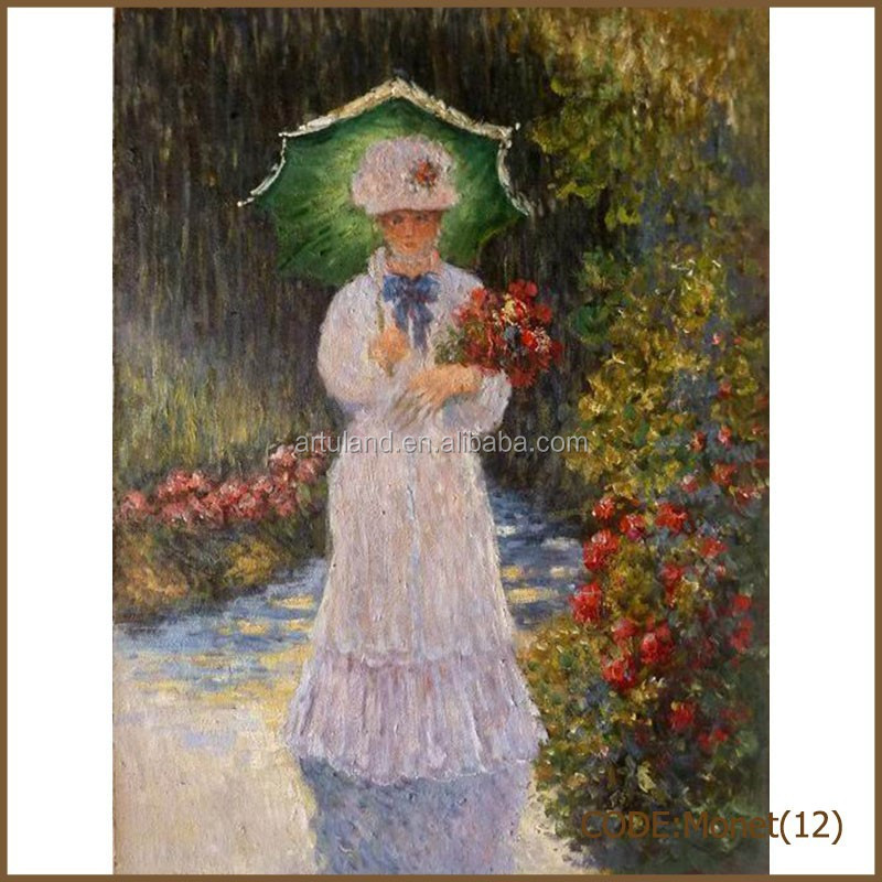 wholesale reproduction antiques Monet oil painting of hat woman with a parasol