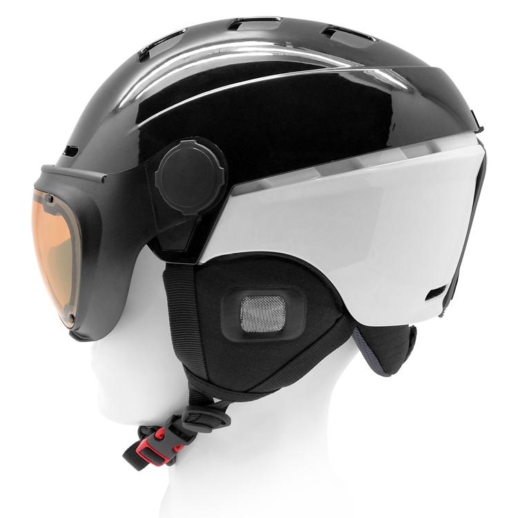 AU-S07 Ice Skating Snow Helmets Ski Helmet With Visor 5