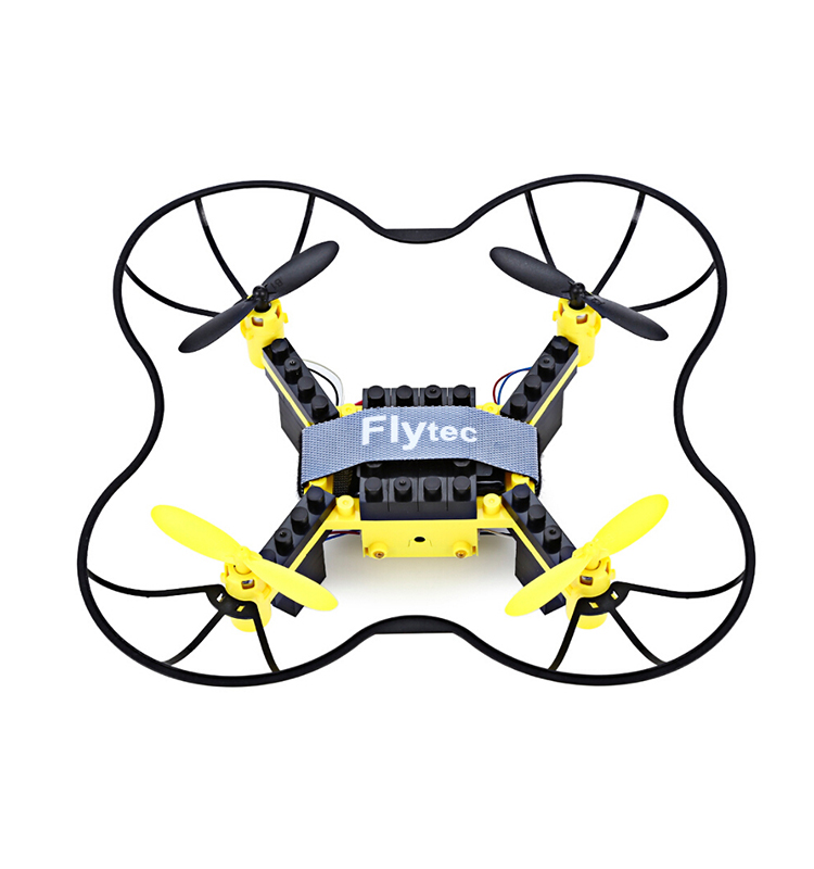 12. T11S_Yellow_WIFI_FPV_DIY_Building_Blocks_Drone_with_0.3MP_Camera_RC_Drone