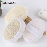 Oval Disposable Loofah Pad Luffa Bath Scrub for Hotel Bathroom Accessories