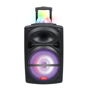 Temeisheng audio spotlight speaker 12inch model LA-0216D manual super bass portable active column speaker