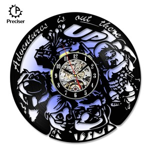 Character Preciser Vinyl Record Wall Clock For Living Room Home Decor Wall Clock With LED Light Christmas Gift