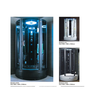Black massage smart steam shower room/Golden shower cabin in promotion