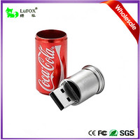 Cola Style USB Flash Drive Data Storage Device 4GB Color Red Key Ring Included