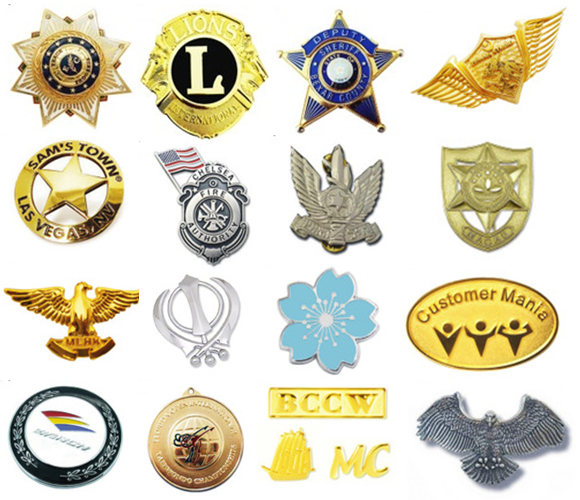 Factory wholesales supply custom made die-casting Metal Badges with logo promotion 2016 Hot