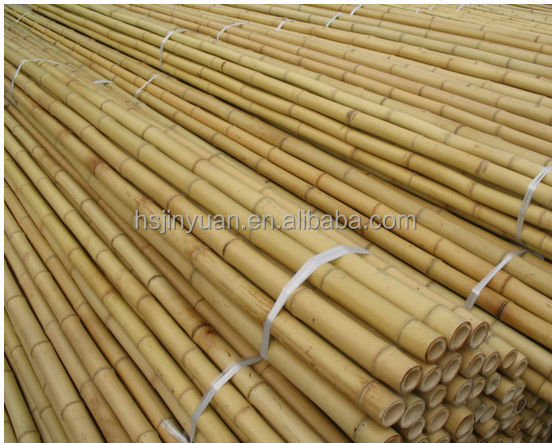 bamboo poles in bamboo raw material
