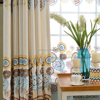 Top Ing Fabrics Fabric Laser Cut With Embroidery Curtains