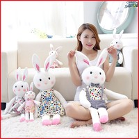 Customized PP cotton soft cheap pretty rabbit plush toy for girl