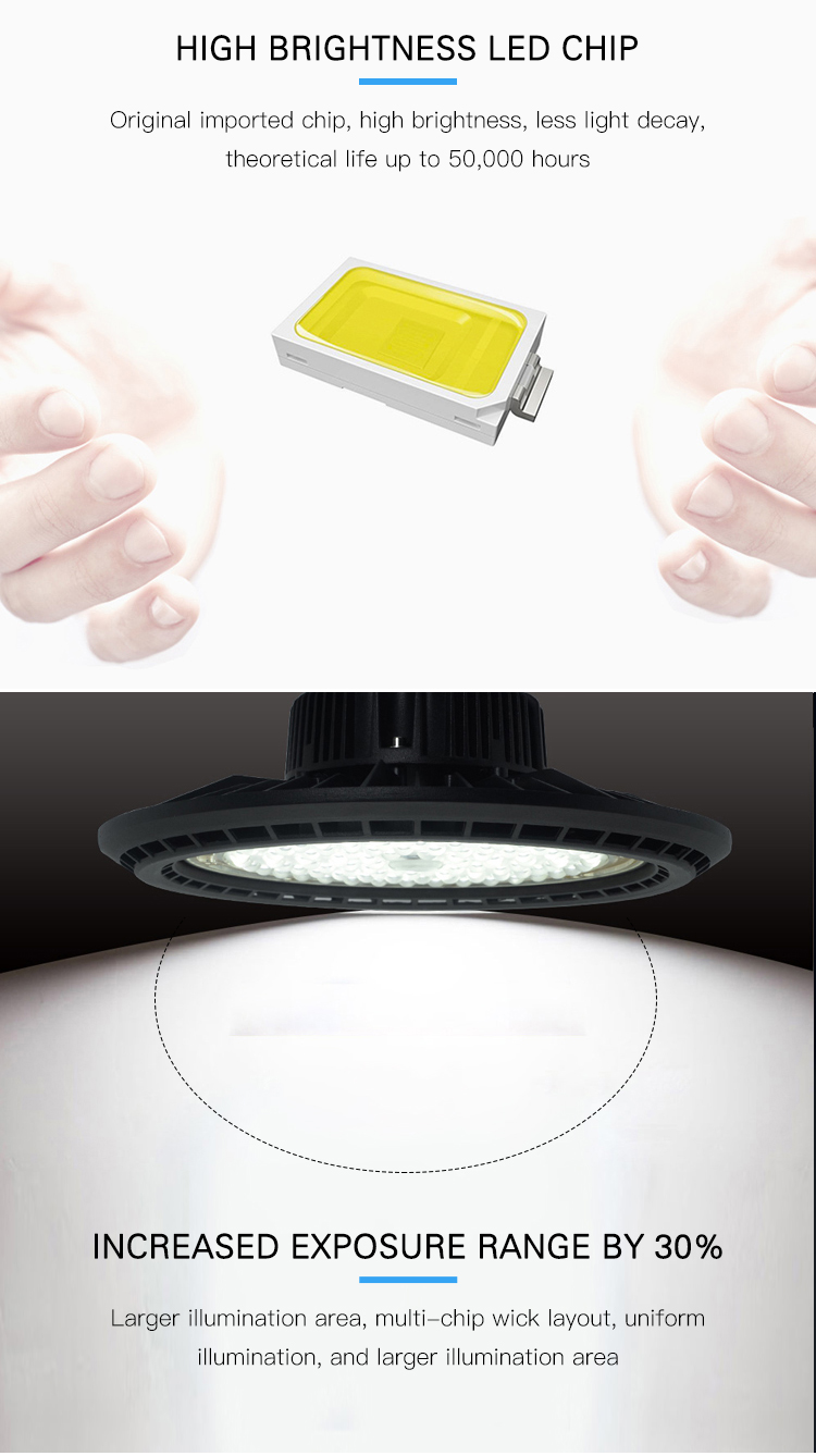 Best selling indoor waterproof ip66 Industrial 100w 150w 200w ufo led high bay light