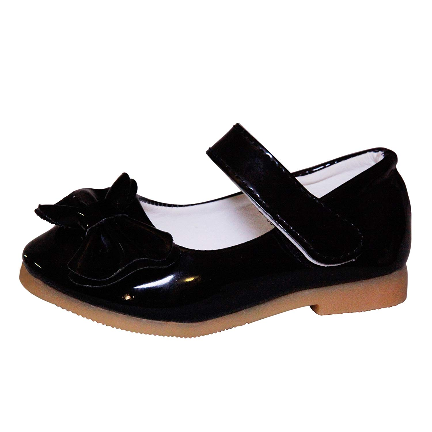 8749c1032d645 Get Quotations · CONDA Kids Girls Toddler Shoes - Little Kids Patent Leather  Black Bow Mary Janes