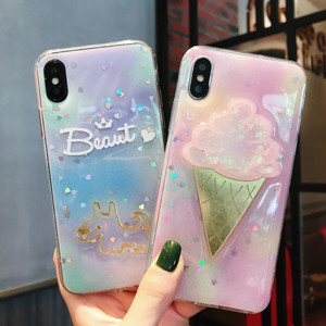 Ice cream design case for iphone X XR XS max,TPU mobile Phone Cover Phone Case For iphone 6 6s 6plus 6sp 7 7P 8 8P