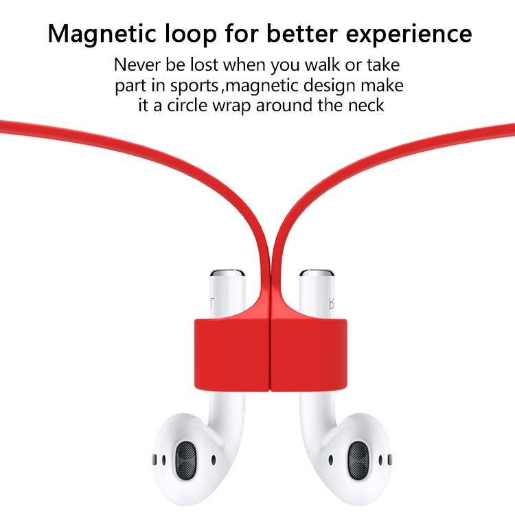 Magnetic Earphone Strap Anti Lost Strap Magnetic String Rope For Apple Airpod Wireless TWS Earphones Silicone Cable Cord