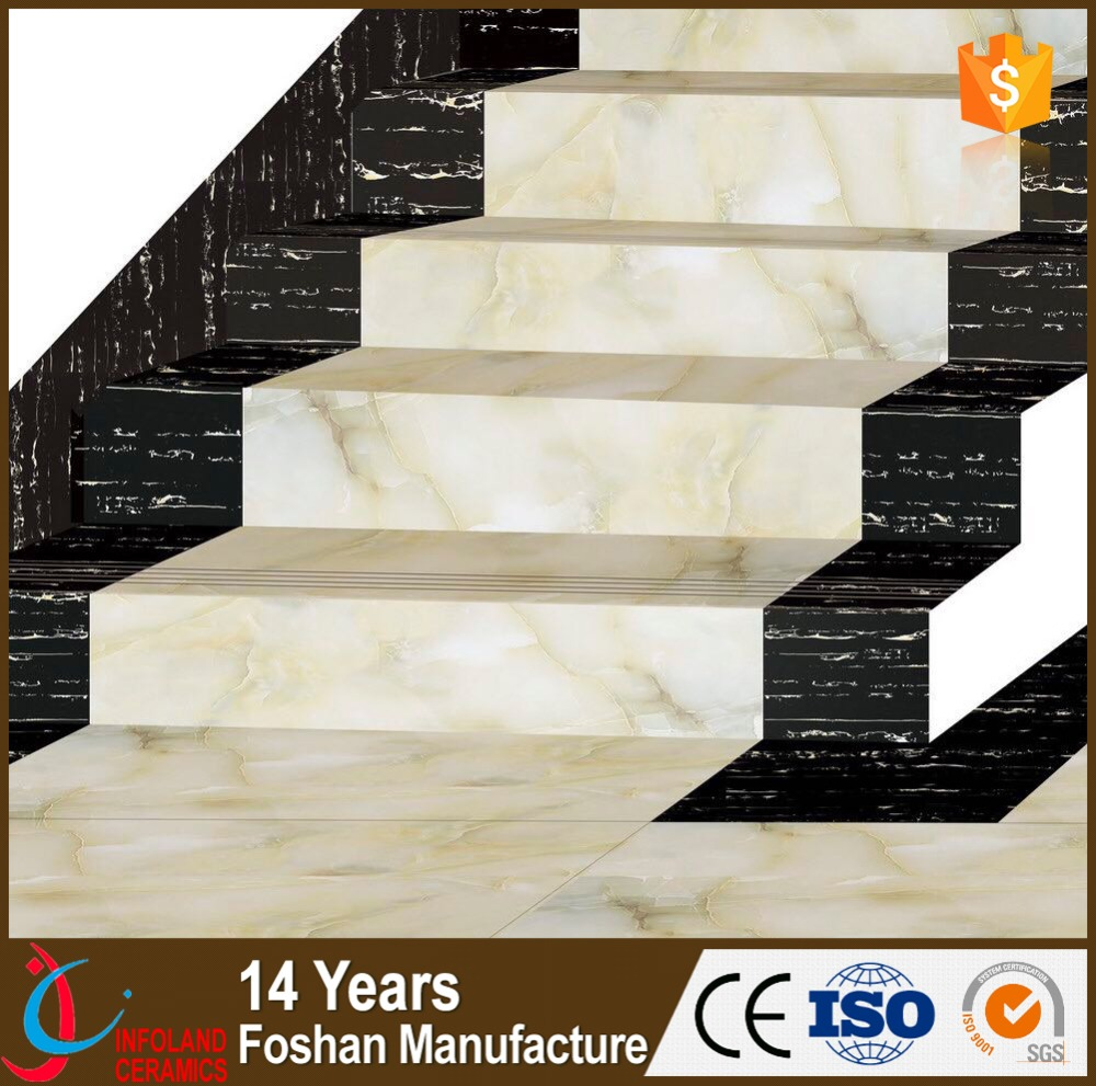 New Modern Flooring Stair Tile Step Flooring With Glazed