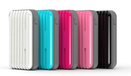 Colorful suitcase power bank, 6600mah luggage cases power bank charger for mobile phone
