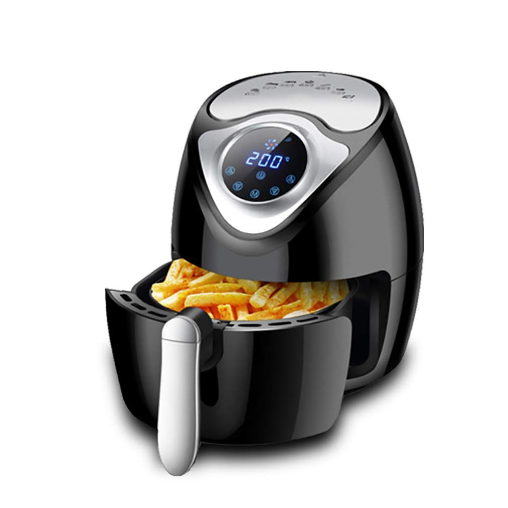 New Air Fryer, Smart Touch Screen Home Without Fryer, 2.6L Large Capacity Fries Machine,Containing Recipes,Healthy Cookware Food Oven (Color : Black)