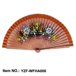 Customized professional good price of wooden spanish fans hand for weddings bulk with best