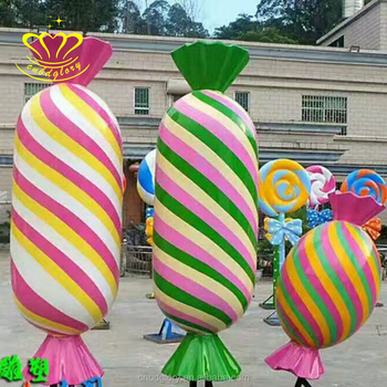 Hot Selling FRP colored drawing Round cartoon confection sculpture
