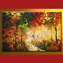 Wholesale Handmade Fabric Landscape Painting Designs