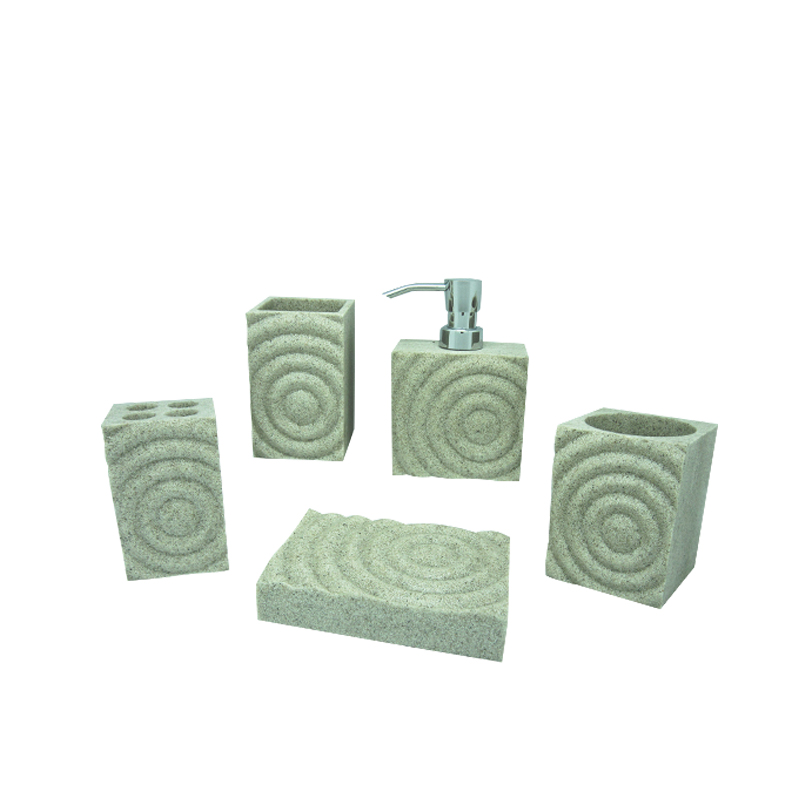 fancy novelty resin hotel bath accessories sets
