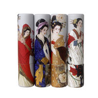 Chinese ancient four beautiful women design paper lipstick tube