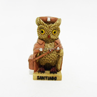 Cartoon owl figurines of SANTIAGO resin crafts