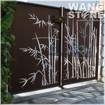 Bamboo Wall Art Laser Cut Outdoor Metal Screen