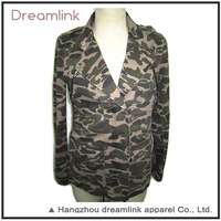 Fall camo Designer Polyester parka Jacket for women