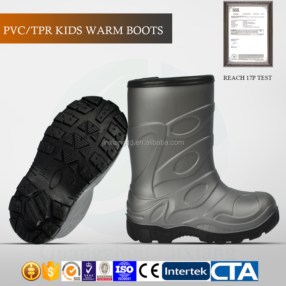 good quality CE standard children rain shoes kids snow boots