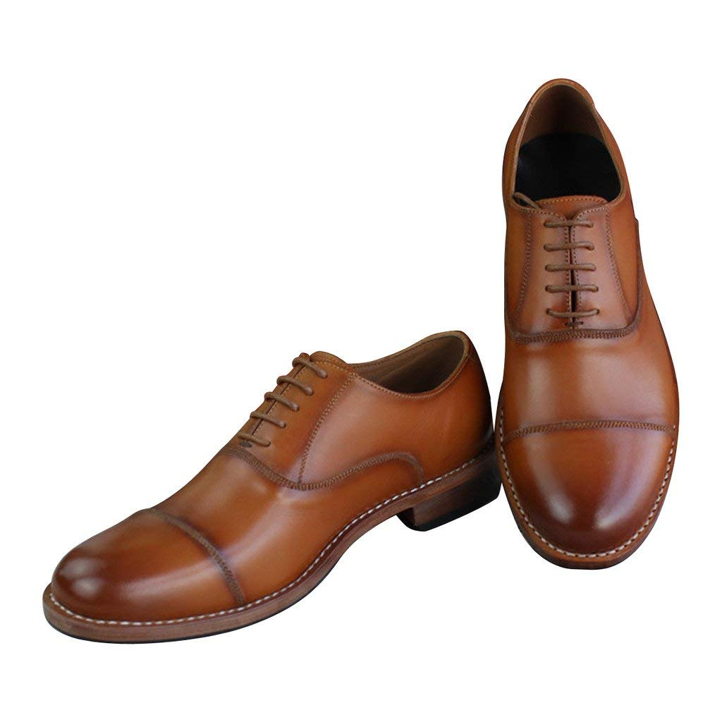 540903a5fd63 Get Quotations · Custom Made Goodyear Genuine Leather Handmade Oxfords  Men s Handcraft Formal Shoes Large Plus Size