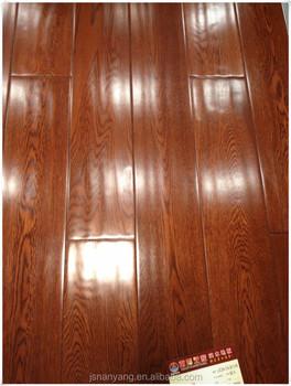 Hand Scraped Wave Surface High Gloss Oak Engineered Wood Flooring