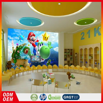 children 3d kids room decorative murals kindergarten wall design