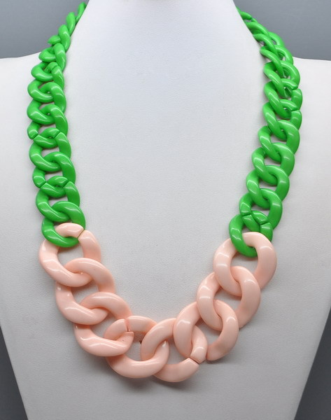 Long Acrylic Chain Link Necklace Plastic Chain Necklace