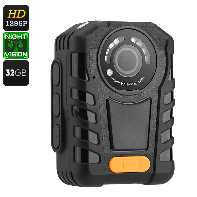 HD 1080P IR Police Night Vision 128GB GPS Body Worn Video Camers Waterproof IP67