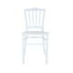 Classic Design Durable Bamboo Plastic Chair White