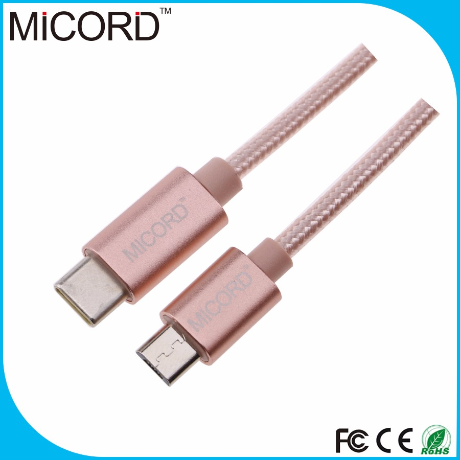 China Professional Supplier type c to micro usb 3.1 type c data cable