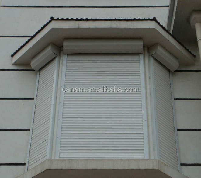 Window metal rolling shutter with 55mm foam slats
