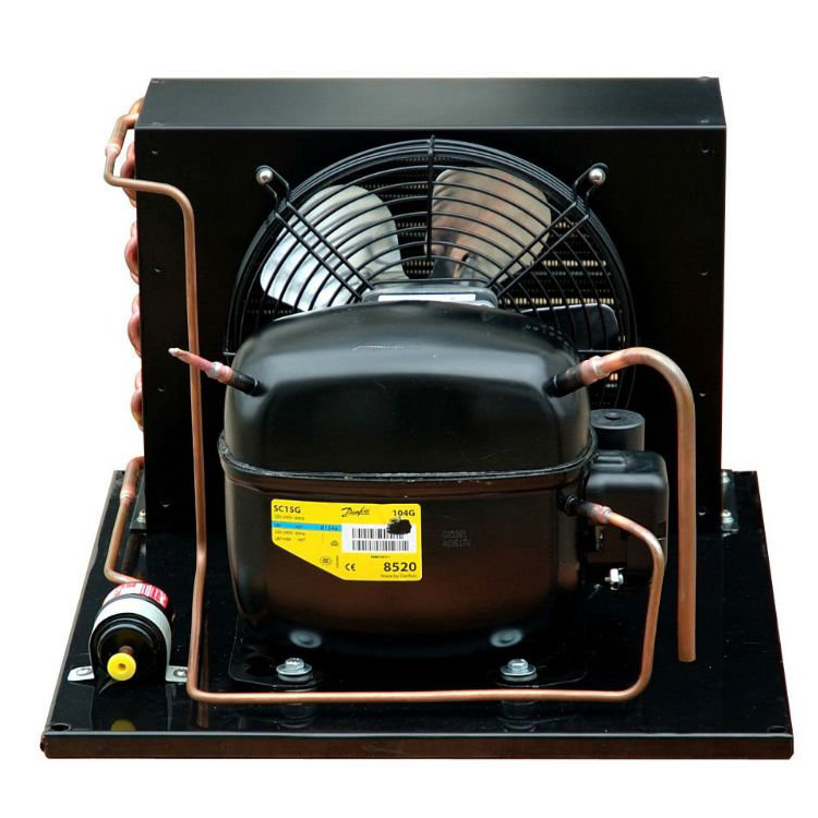2hp 3hp Small Size Refrigeration Condensing Unit Cold Room With Air Cooled Condenser