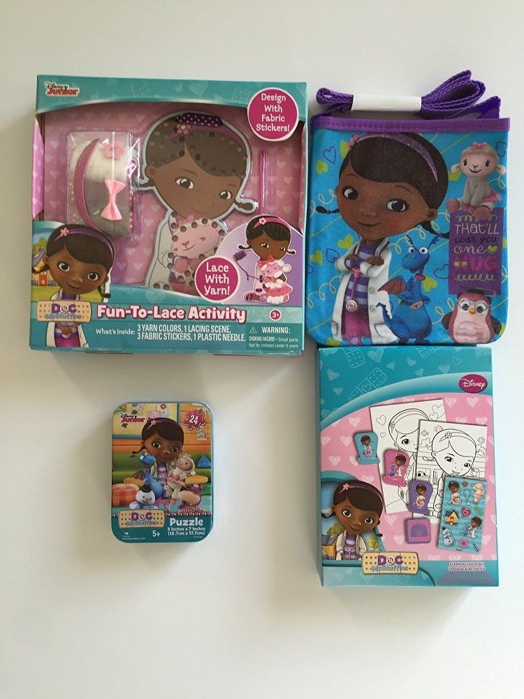 Doc McStuffins Gift Activity Set Coloring Book with Crayons and Locked Diary with Pen