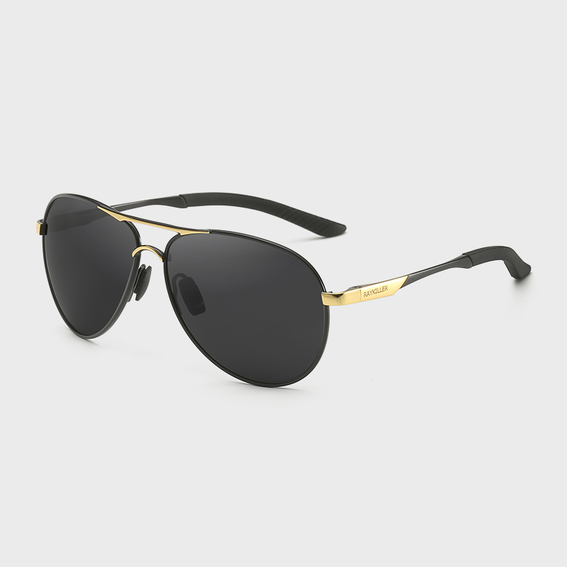 KDEAM 2019 Innovative RAYKILLER Trendy Italy Design Classic Pilot Aviation Sunglasses <strong>Custom</strong> Logo Polarized <strong>Shades</strong> with Case