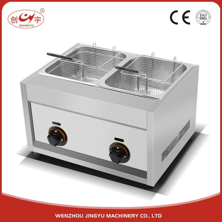 Chuangyu 2017 Highest Demand Products Double Commercial Deep Fryer Gas For Restaurant Equipment