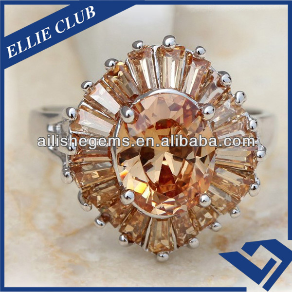 Amazing AAA Champagne Decorative Cubic Zircon Stones in Tapered Shape