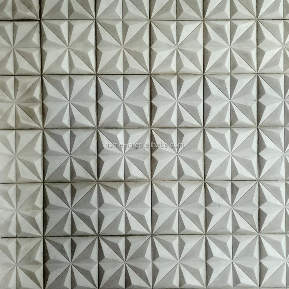 White Concrete Large Size Square Wall Tiles Polished