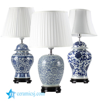 DS38 2017 new arrival Made in Jingdezhen China wholesale price factory outlet porcelain table lamps