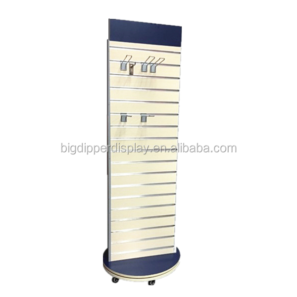 BDD-AC618 custom double sided floor display stand for mobile accessories,wood accessory rack,blister pack display stand
