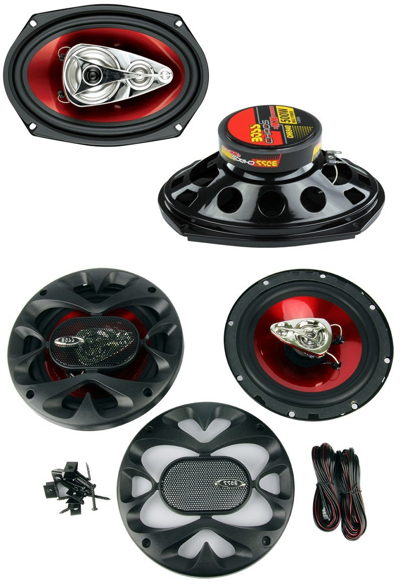 "BOSS Chaos CH6940 6x9"" 500W 4-Way + CH6530 6.5"" 300W 3 Way Car Coaxial Speakers"