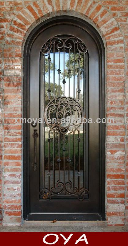 Mdf puertas exteriores de hierro forjado sola puerta for Puertas de metal para exterior