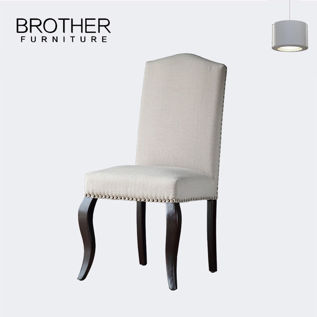 High quality white modern European style wooden single dining chair