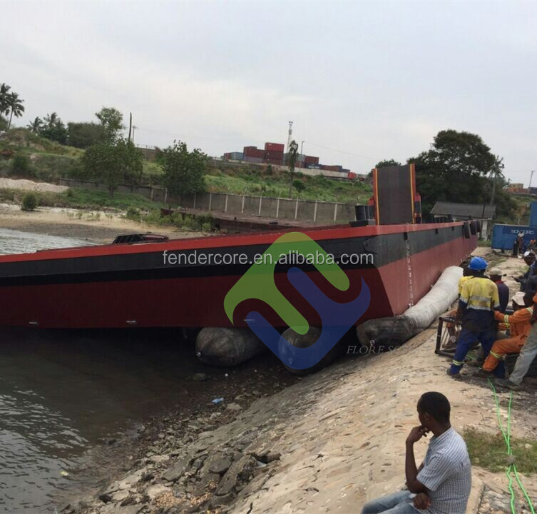 Dia1.5mX12m tug boat launching&salvage balloon for ship,launching balloon
