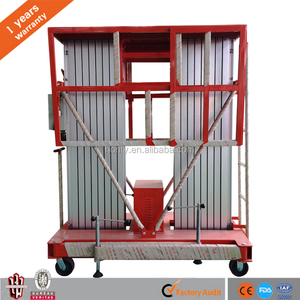 Mobile vertical Double mast aluminum personal lift manual electric person portable ladder one man lift for sale
