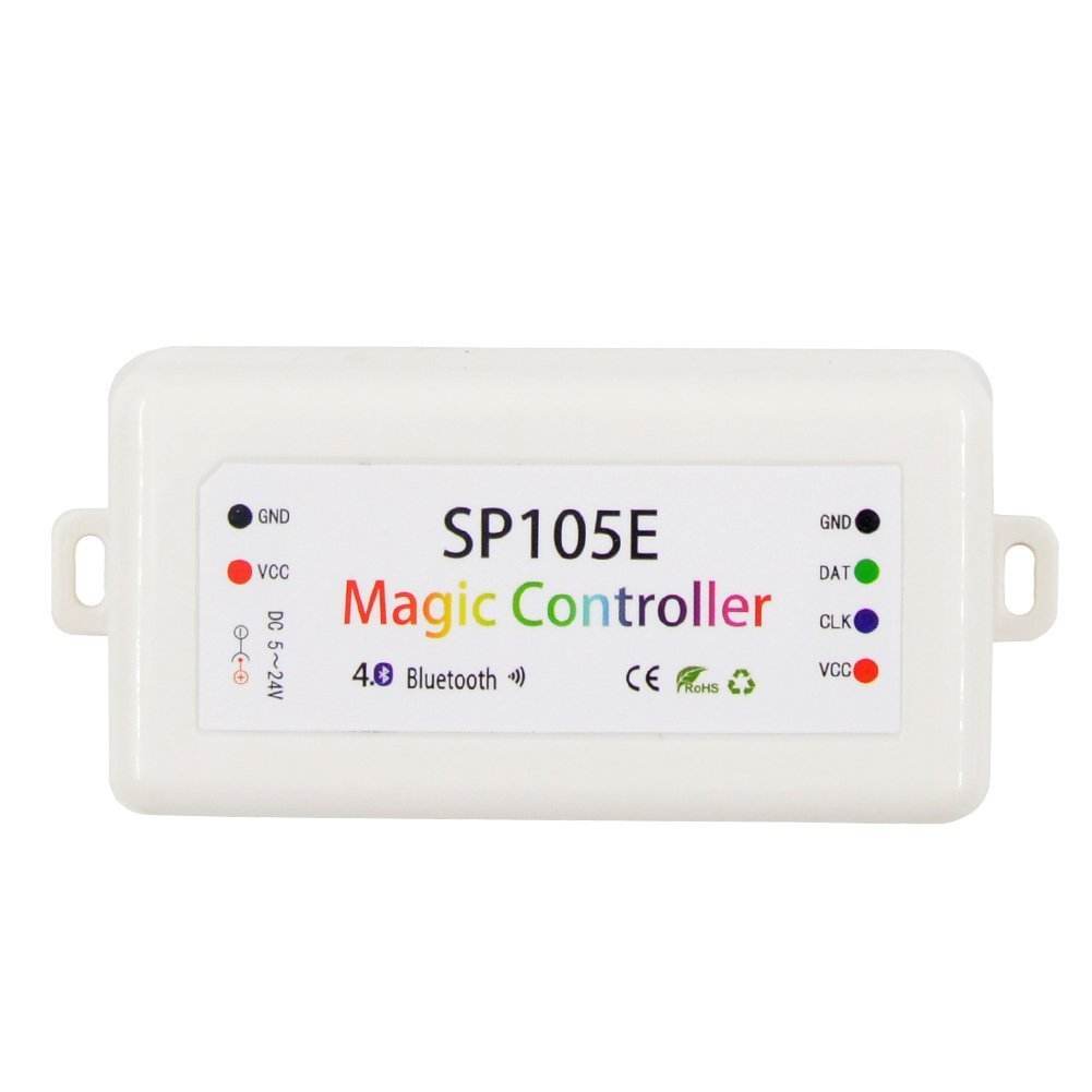 Cheap Av Controller App Find Deals On Line At The Led Strips In My Device Use Ws2801 Uses A Get Quotations Mokungit Dc5 24v 2048 Pixels Sp105e Magic 40 Bluetooth Support Ws2811